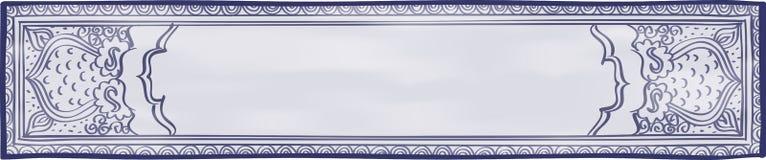 Blauer und weißer Website-Titel Lizenzfreies Stockbild