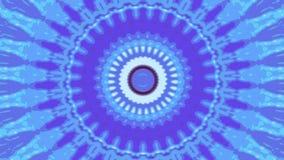 Blauer undeutlicher Fractalkreis stock footage