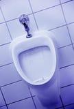 Blauer Urinal stockfoto