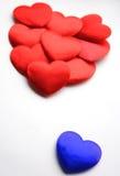 Blauer Valentinsgruß Lizenzfreie Stockbilder