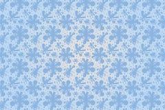 Blauer Vektor blüht nahtloses Muster für Illustrator Stockbilder