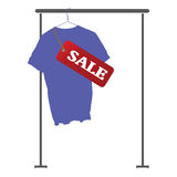 Blauer Vektor des Hemdes im Verkauf Lizenzfreie Stockbilder