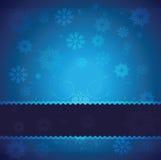 Blauer vektorweihnachtshintergrund stock abbildung