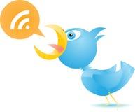 Blauer Vogel RSS Stockfoto