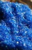Blauer vulkanischer Kristall. Stockfotos