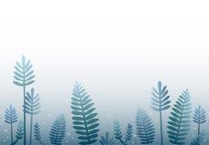 Blauer Waldkarikaturhintergrund Stockfotos