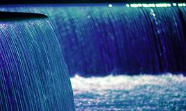 Blauer Wasserfall Stockfotografie