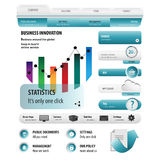 Blauer Websitegeschäftssatz Lizenzfreie Stockbilder