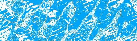Blauer weißer abstrakter Fahnen-Titel-Hintergrund Stockfotos