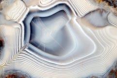 Blauer weißer Achat als fullframe Hintergrund Stockfoto