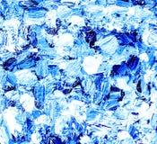 Blauer weißer Acrylhintergrund von Bürstenanschlägen Stockbild