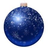 Blauer Weihnachtsball Lizenzfreie Stockfotos