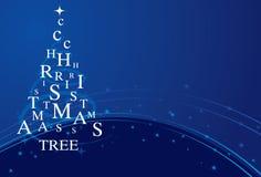 Blauer Weihnachtsbaum Stockfoto