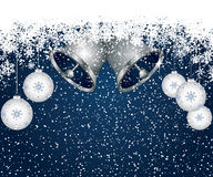 Blauer Weihnachtsdekorationhintergrund Lizenzfreies Stockfoto
