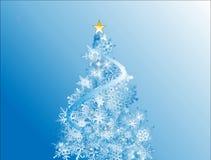 Blauer Weihnachtsfeiertagshintergrund Stockfotografie