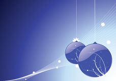 Blauer Weihnachtsflitter Stockfoto