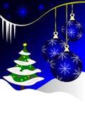 Blauer Weihnachtsflitter Lizenzfreies Stockbild
