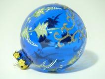 Blauer Weihnachtsflitter Stockbild