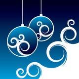 Blauer Weihnachtshintergrund Lizenzfreie Stockbilder