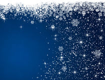 Blauer Weihnachtshintergrund Lizenzfreie Stockfotos
