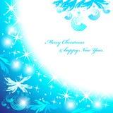 Blauer Weihnachtshintergrund. Lizenzfreie Stockbilder