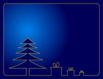 Blauer Weihnachtshintergrund Stockbild