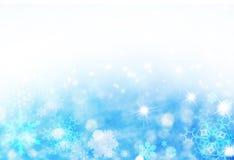 Blauer Weihnachtshintergrund Lizenzfreies Stockbild