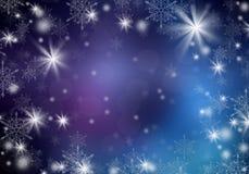 Blauer Weihnachtshintergrund Stockfotos