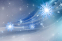 Blauer Weihnachtshintergrund Lizenzfreie Stockfotografie