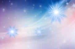 Blauer Weihnachtshintergrund Stockfoto
