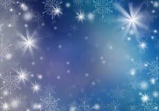 Blauer Weihnachtshintergrund Lizenzfreies Stockfoto