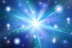 Blauer Weihnachtshintergrund Stockfotografie
