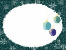Blauer Weihnachtshintergrund mit Dekoration Stockfoto