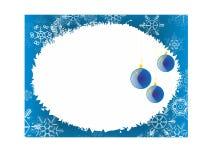 Blauer Weihnachtshintergrund mit Dekoration Stockbild