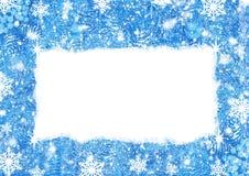 Blauer Weihnachtshintergrund mit mit Raum für Text Stockfotografie