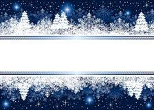 Blauer Weihnachtshintergrund mit Schneeflocken und Stern Lizenzfreie Stockbilder