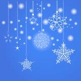 Blauer Weihnachtshintergrund Vektor eps10 Stockbild