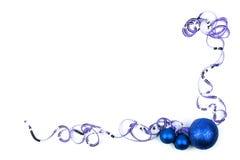 Blauer Weihnachtsrand Lizenzfreies Stockbild