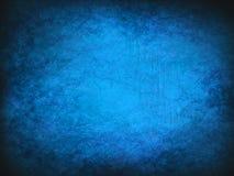 Blauer Weinlesezusammenfassungs-Schmutzhintergrund mit hellem Mittelscheinwerfer Moderne Beschaffenheit mit dunklen Ecken Lizenzfreie Stockfotografie