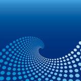 Blauer Wellen-Kreis-Hintergrund Lizenzfreies Stockfoto