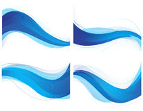 Blauer wellenförmiger Hintergrund Lizenzfreie Stockfotos