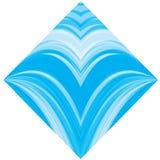 Blauer Wellenhintergrund stock abbildung