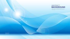 Blauer Wellenhintergrund, abstrakte Beschaffenheit, Abdeckungsentwurf, geometrischer Vektor, grafisch, minimal, Fliegerschablone, lizenzfreie abbildung