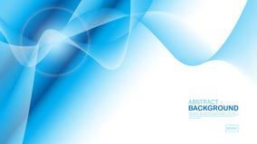 Blauer Wellenhintergrund, abstrakte Beschaffenheit, Abdeckungsentwurf, geometrischer Vektor, grafisch, minimal, Fliegerschablone, stock abbildung
