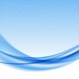 Blauer Wellenhintergrund mit Halbton. Lizenzfreies Stockbild