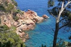 Blauer wilder Nebenfluss Spanien lizenzfreie stockfotos