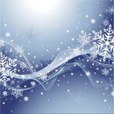 Blauer Winter-Hintergrund Stockfoto