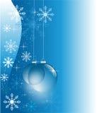 Blauer Winter mit Glaskugeln Lizenzfreie Stockbilder