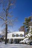 Blauer Winterhimmel nach Blizzard Lizenzfreie Stockfotos