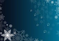 Blauer Winterhintergrund Lizenzfreies Stockfoto